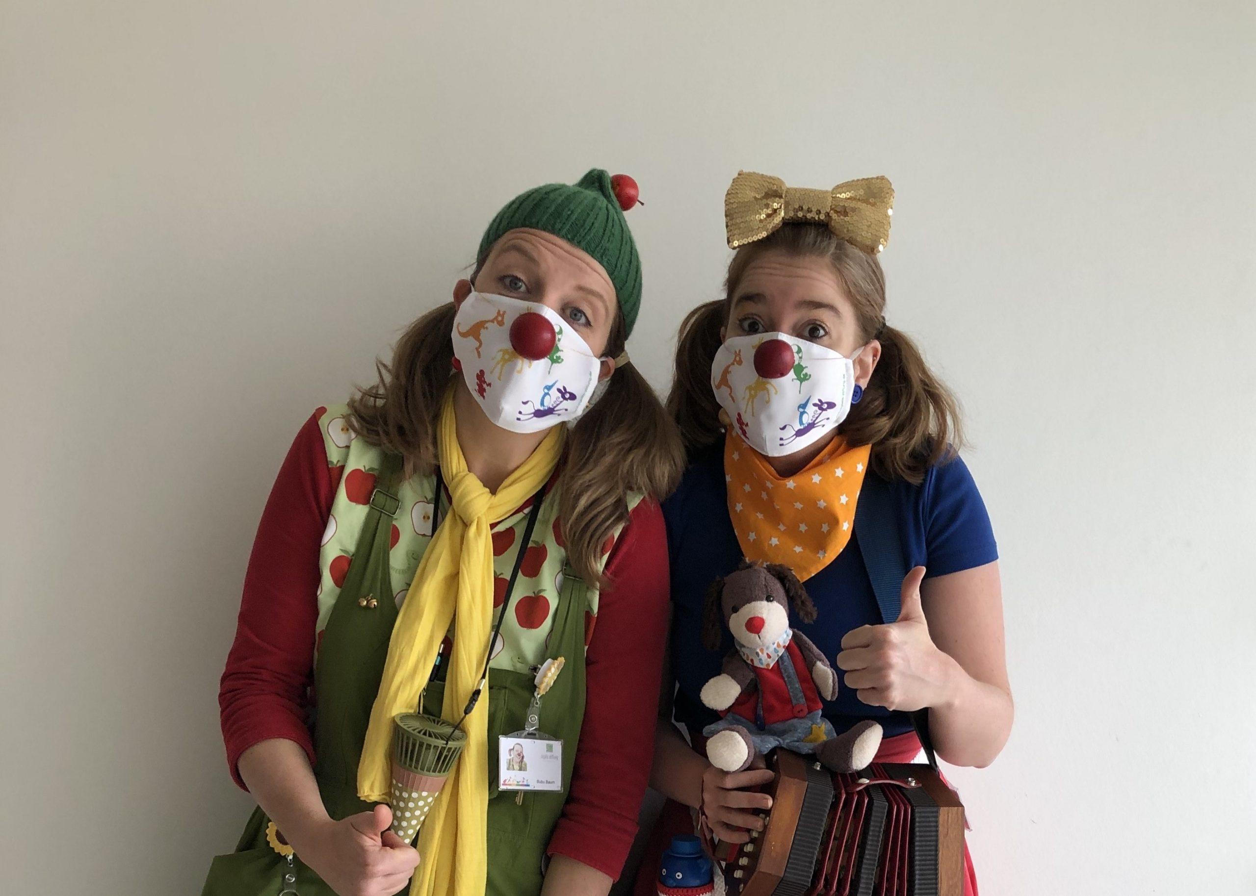 Klinikclowns quer Lametta und Bubu in Coronazeiten