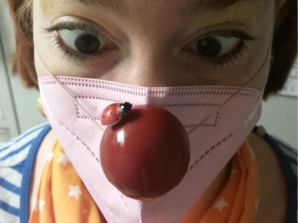 Clowngeschichte Glück am Morgen mit Marienkäfer